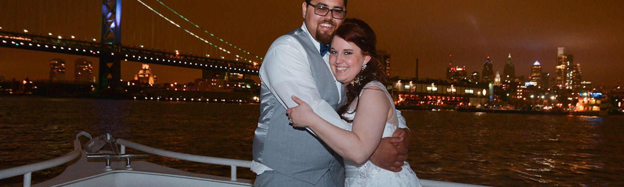 Heather and Jeff marry aboard the Spirit of Philadelphia