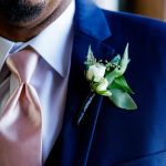 Classic white boutonnière from Absolutely Blooming