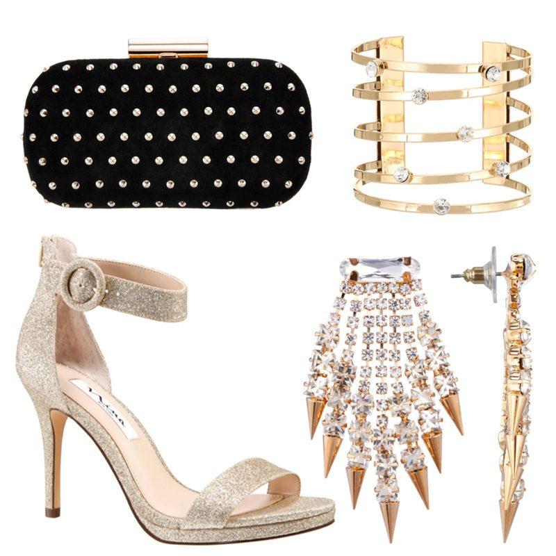 Glittery Gold Accessories