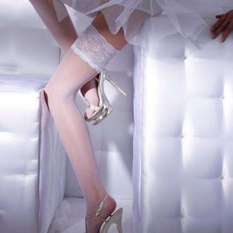 Sheer Thigh High Bridal Stockings